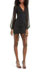 Magnolia Ruched Long Sleeve Minidress by Tiger Mist at Nordstrom