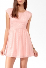 Magnolias pink polka dot dress at Forever 21