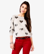 Magnolia's sequin heart sweater at Forever 21