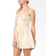 Magnolia's white and gold bow dress from Forever 21 at Forever 21