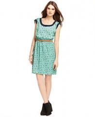 Maison Jules Dress Cap-Sleeve Bird-Print A-Line - Dresses - Women - Macys at Macys