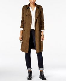 Maison Jules Faux-Suede Trench Coat  Only at Macy s at Macys