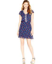 Maison Jules Flutter-Sleeve Printed Dress at Macys
