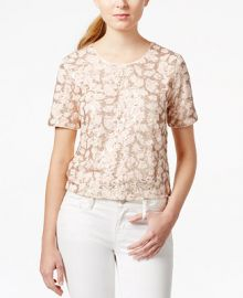 Maison Jules Lace Sequin Top Only at Macys at Macys