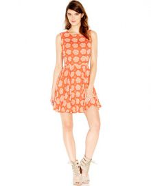Maison Jules Sleeveless Floral-Print Flared Dress at Macys