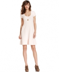 Maison Jules Textured Dress in white at Macys