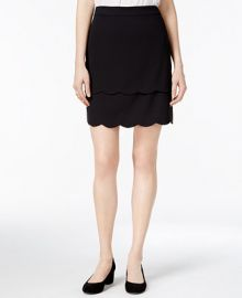 Maison Jules Tiered Scallop-Hem Skirt  Only at Macy s at Macys