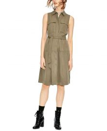 Maison Jules Womens Utility-Pocket A-Line T-Shirt Dress at Amazon