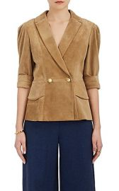 Maison Mayle Vita Suede Double-Breasted Jacket at Barneys