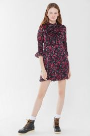 Maisy Mock Neck Mini Dress at Urban Outfitters