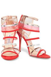 Maitai suede and Perspex Sandals by Jimmy Choo at The Outnet