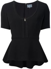 Maiyet Zip Front Peplum T-shirt at Farfetch