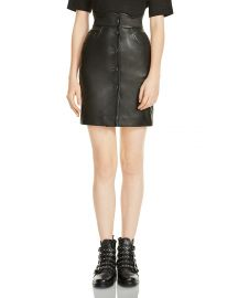 Maje Journey Leather Skirt at Bloomingdales