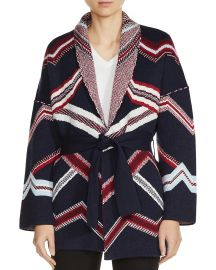 Maje Marcozi Belted Reversible Cardigan at Bloomingdales