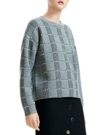 Maje Mission Check-Pattern Sweater at Bloomingdales
