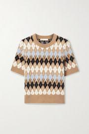 Maje - Argyle wool-blend top at Net A Porter