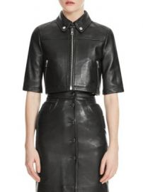 Maje - Brittany Leather Jacket at Saks Fifth Avenue
