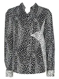 Maje - Cilia Leopard Star-Embroidered Chiffon Blouse at Saks Fifth Avenue