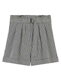 Maje - Imy Paperbag Houndstooth Shorts at Saks Fifth Avenue
