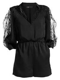Maje - Ines Lace-Sleeve Mini Playsuit at Saks Fifth Avenue