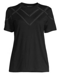 Maje - Jersey Embellished Tee at Saks Fifth Avenue