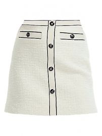 Maje - Joppy Button Front Mini Skirt at Saks Fifth Avenue