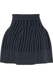 Maje   Josette pleated stretch-knit mini skirt at Net A Porter