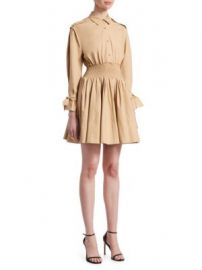 Maje - Ralix Smocked Shirtdress at Saks Fifth Avenue