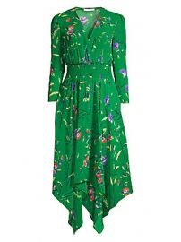 Maje - Rayema Floral Handkerchief Midi Dress at Saks Fifth Avenue