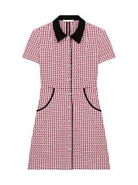 Maje - Renatya Mini Tweed Shirtdress at Saks Fifth Avenue
