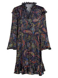 Maje - Riley Paisley Print Mini Dress at Saks Fifth Avenue