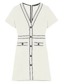 Maje - Roppy Tweed A-Line T-Shirt Dress at Saks Fifth Avenue