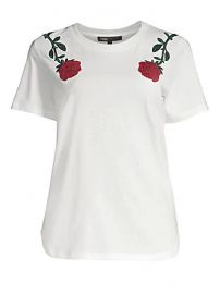 Maje - Roses Embroidery Tee at Saks Fifth Avenue