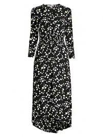 Maje - Rosila Daisy Print Crepe Midi Dress at Saks Fifth Avenue