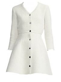 Maje - Structured Tweed Fit-and-Flare Dress at Saks Fifth Avenue