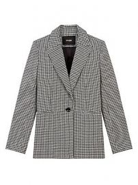 Maje - Vadimy Houndstooth Single-Button Blazer at Saks Fifth Avenue