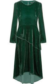 Maje - Velvet midi dress at Net A Porter