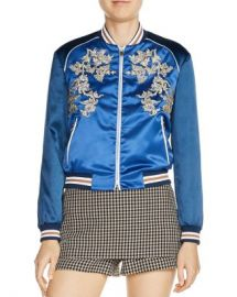 Maje Bichon Embroidered Bomber Jacket Women - Bloomingdale s at Bloomingdales