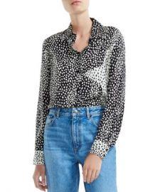 Maje Cilia Color-Blocked Animal-Print Shirt Women - Bloomingdale s at Bloomingdales