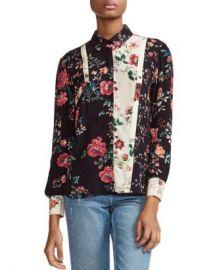 Maje Ciller Patchwork Floral Print Shirt Women - Bloomingdale s at Bloomingdales