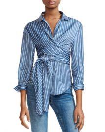 Maje Cosa Striped Wrap Top Women - Bloomingdale s at Bloomingdales