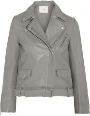 Maje Edouard Leather Jacket at Net A Porter
