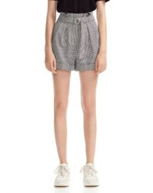 Maje Imy Belted Houndstooth Shorts Women - Bloomingdale s at Bloomingdales