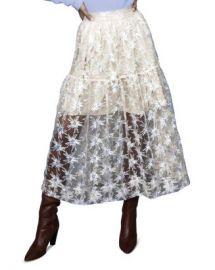 Maje Jizio Sequined Star Midi Skirt Women - Bloomingdale s at Bloomingdales