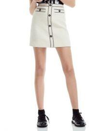 Maje Joppy Decorative-Button Tweed Mini Skirt  Women - Bloomingdale s at Bloomingdales