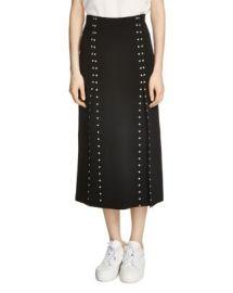 Maje Jude Studded Midi Skirt at Bloomingdales