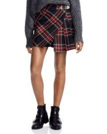 Maje Judie Asymmetric Plaid Mini Skirt Women - Bloomingdale s at Bloomingdales