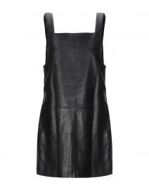 Maje Leather Mini Dress at Yoox