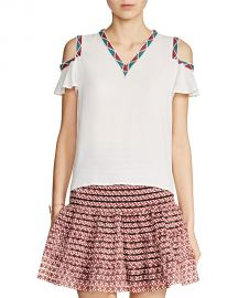 Maje Lisea Cold-Shoulder Top White at Bloomingdales