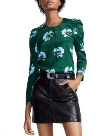 Maje Lukoise Floral Pleated Shoulder Top Women - Bloomingdale s at Bloomingdales